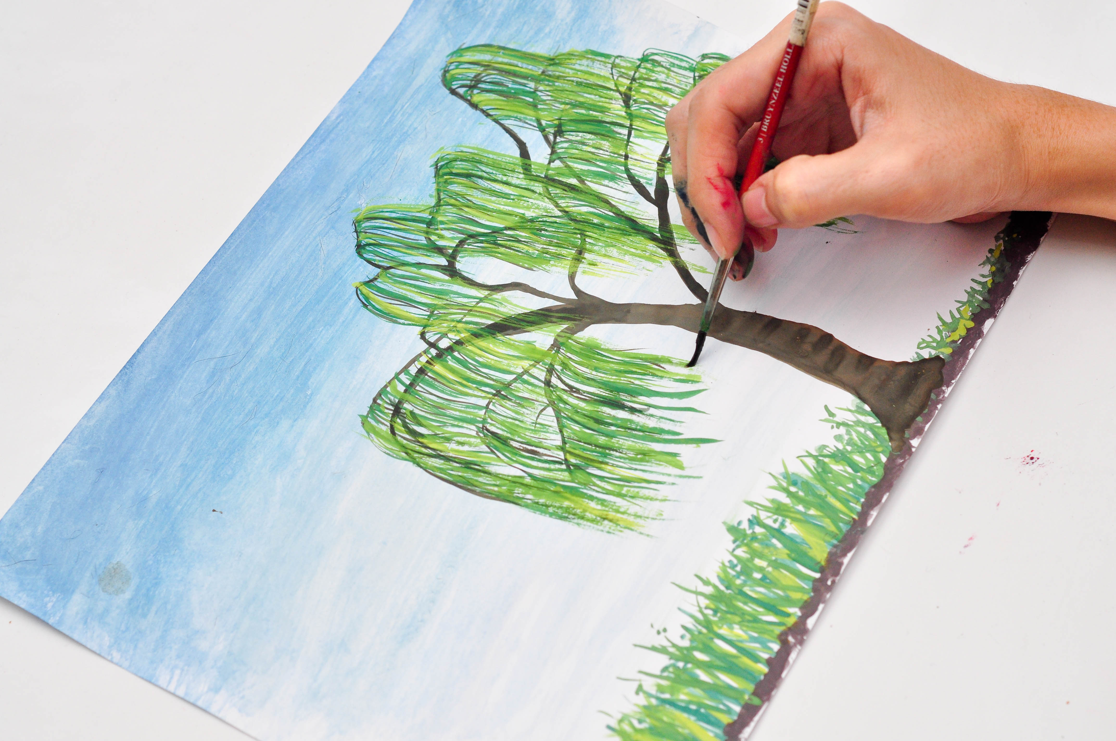 Simple Willow Tree Drawing at GetDrawings.com   Free for personal ...