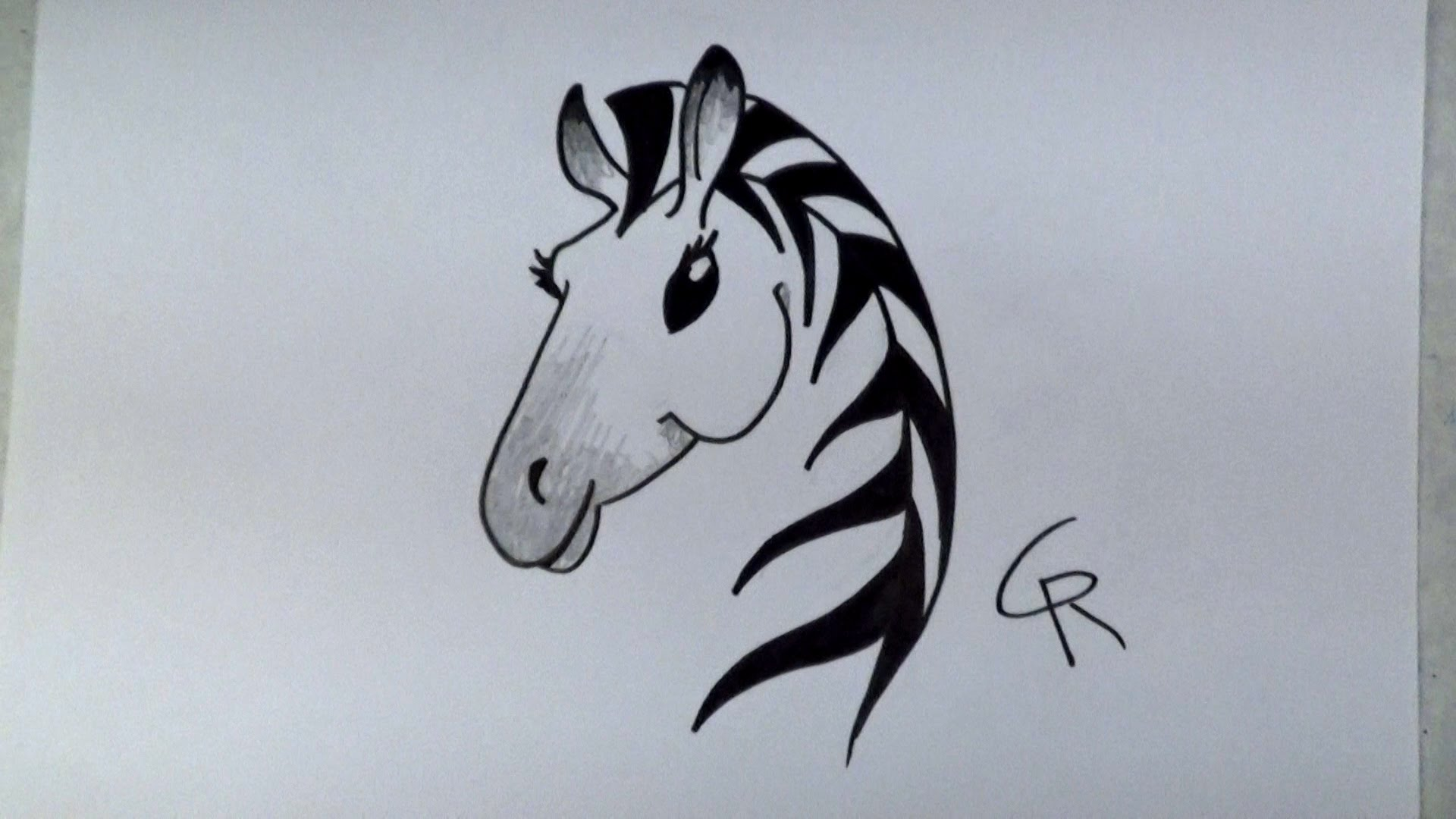 Simple Zebra Drawing at GetDrawings.com | Free for personal use ...