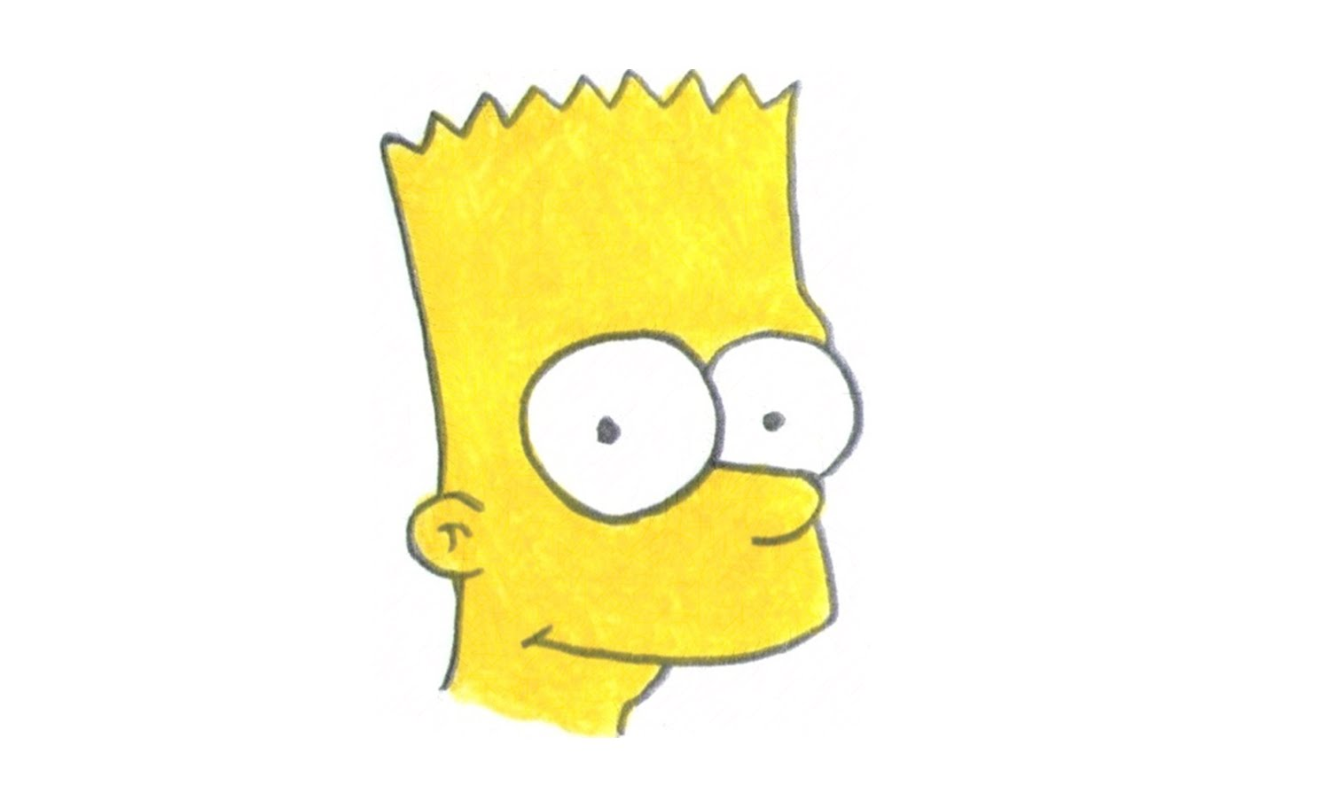 1500x886 How To Draw Bart Simpson From The Simpsons (Character)