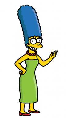 215x382 How To Draw Marge Simpson From The Simpsons, Cartoons, Easy Step