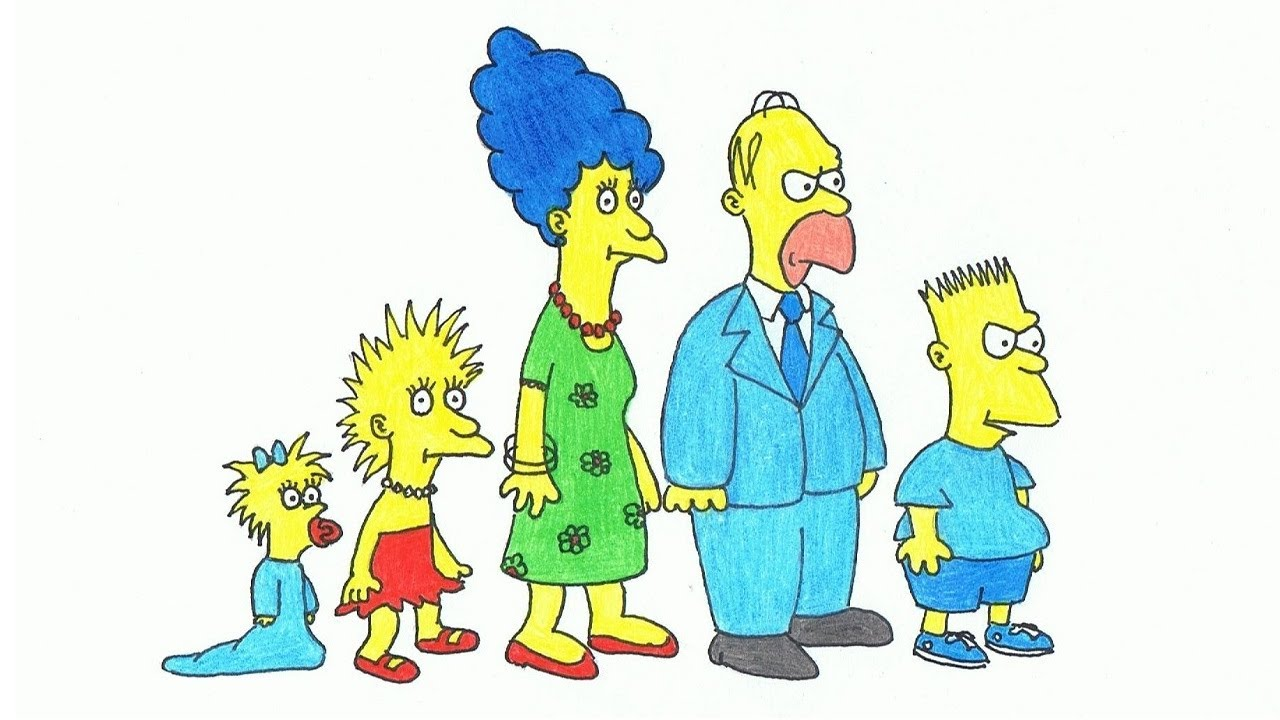 1280x720 The Simpsons Shorts (Drawing