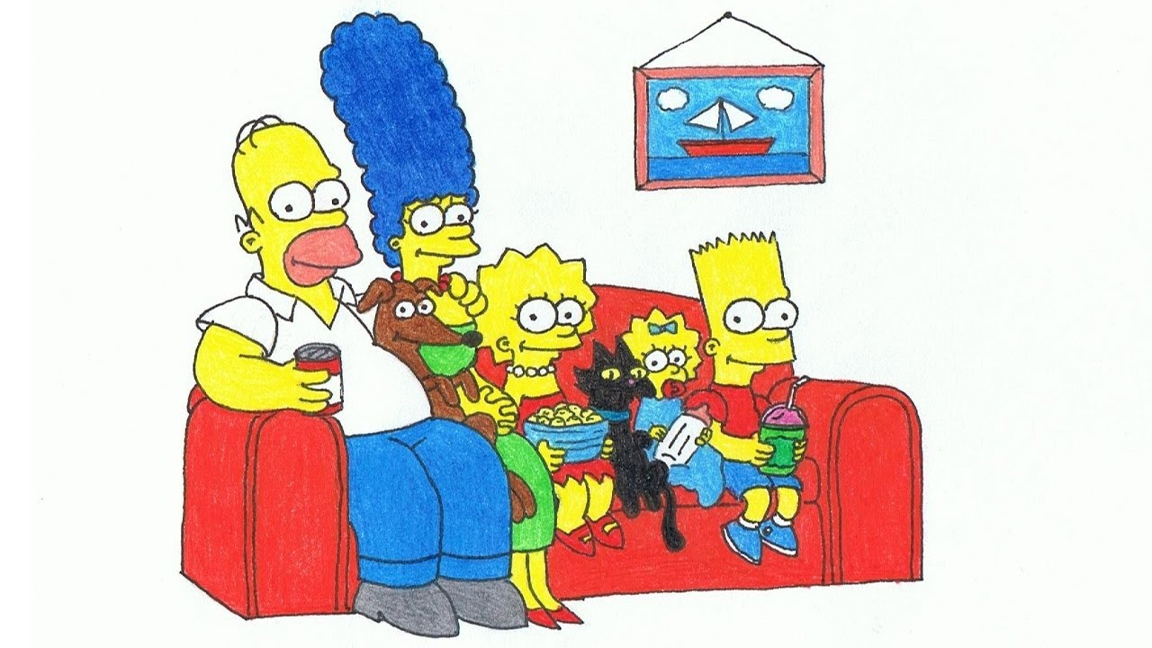 1280x720 The Simpsons Couch Gag (Drawing