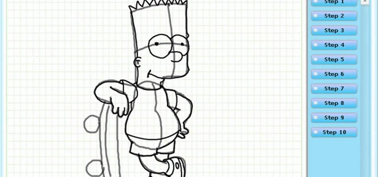 1280x600 How To Draw Bart Simpson (The Simpsons) Drawing Amp Illustration