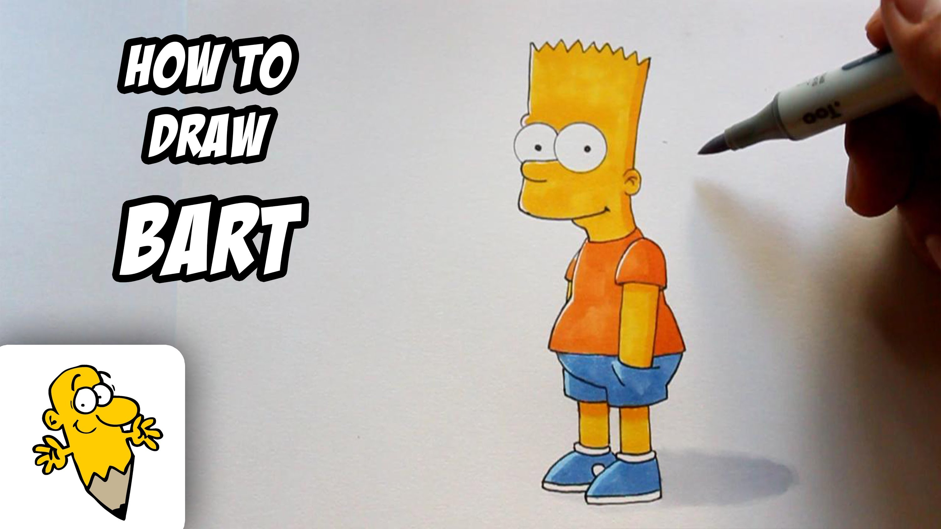 3000x1688 How To Draw Bart [The Simpsons] Drawing Tutorial