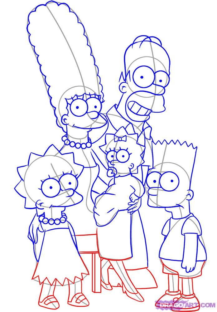 696x1000 The Simpsons Characters To Draw