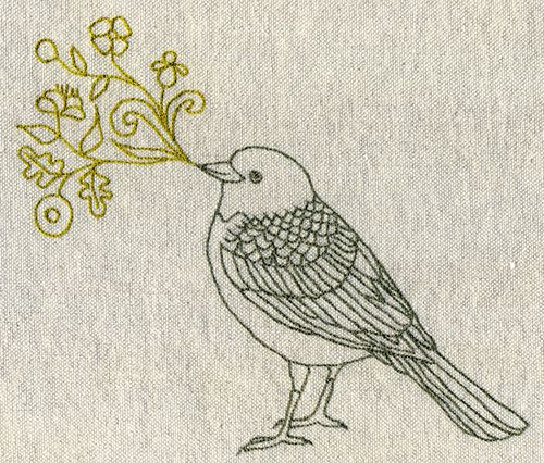 500x426 Singing Bird Embroidery Bird, Embroidery And Stitch