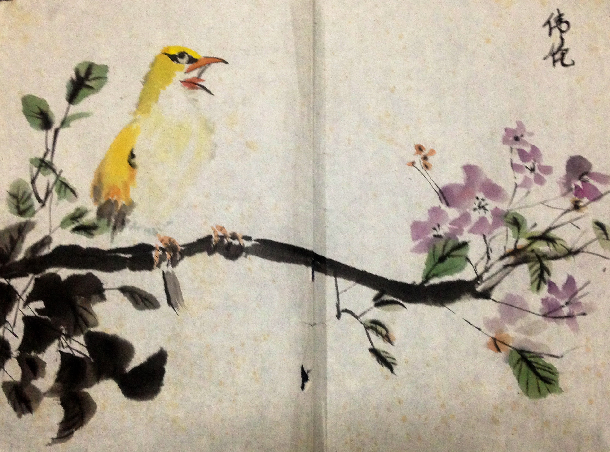 2579x1914 Singing Bird In Chinese Ink Painting My Drawings