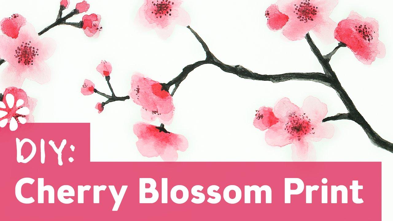1280x720 How To Paint Cherry Blossoms Sea Lemon