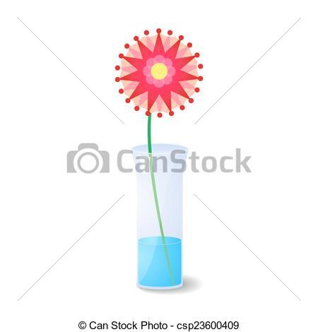 450x470 Single Flower In Vase. Single Pink Flower In Glass Vase