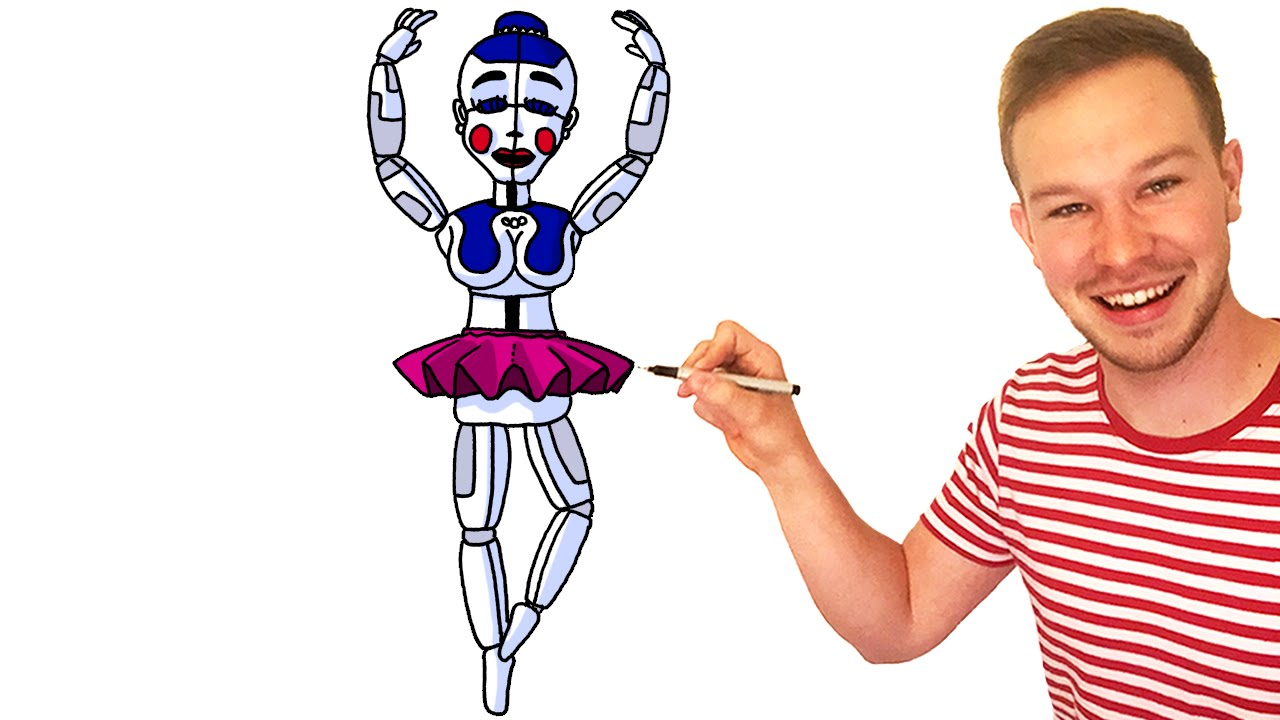 1280x720 How To Draw Ballora From Fnaf Sister Location