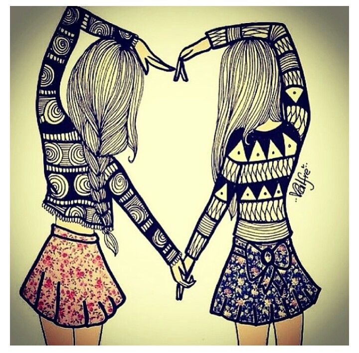 720x707 Photos Cute Drawing Of Best Friends,