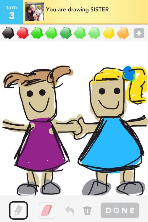 500x751 Sisters Drawings