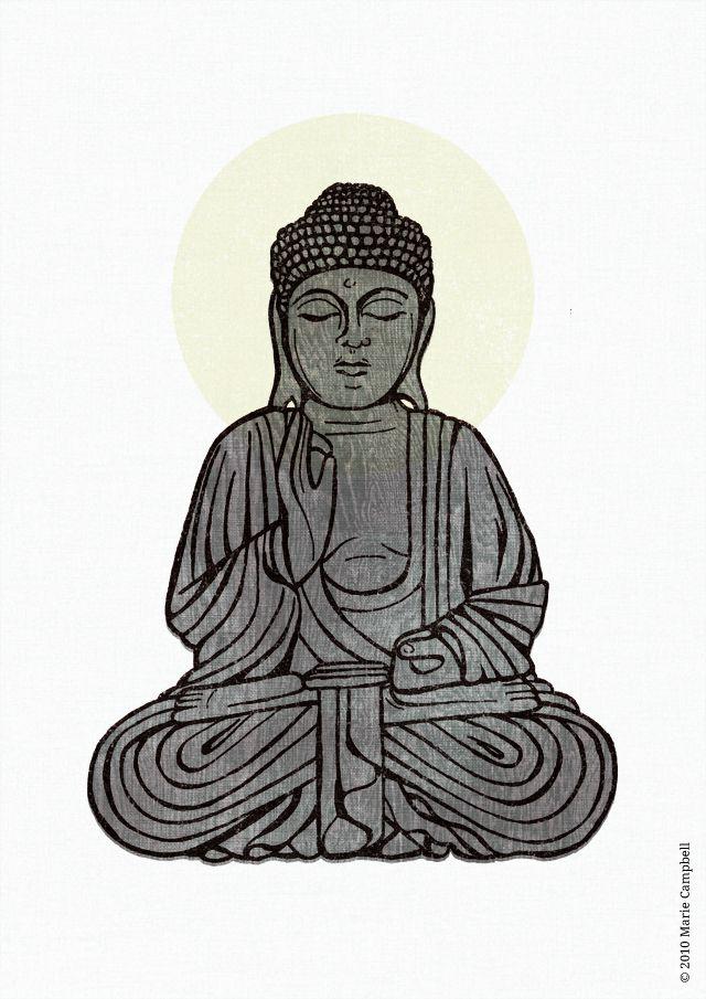 640x905 Simple Buddha Drawing This Buddha Illustration Is A Soham