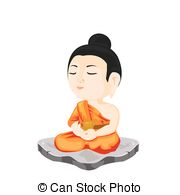 180x195 Sitting Buddha Illustration. Sitting Buddha With Raised Hand