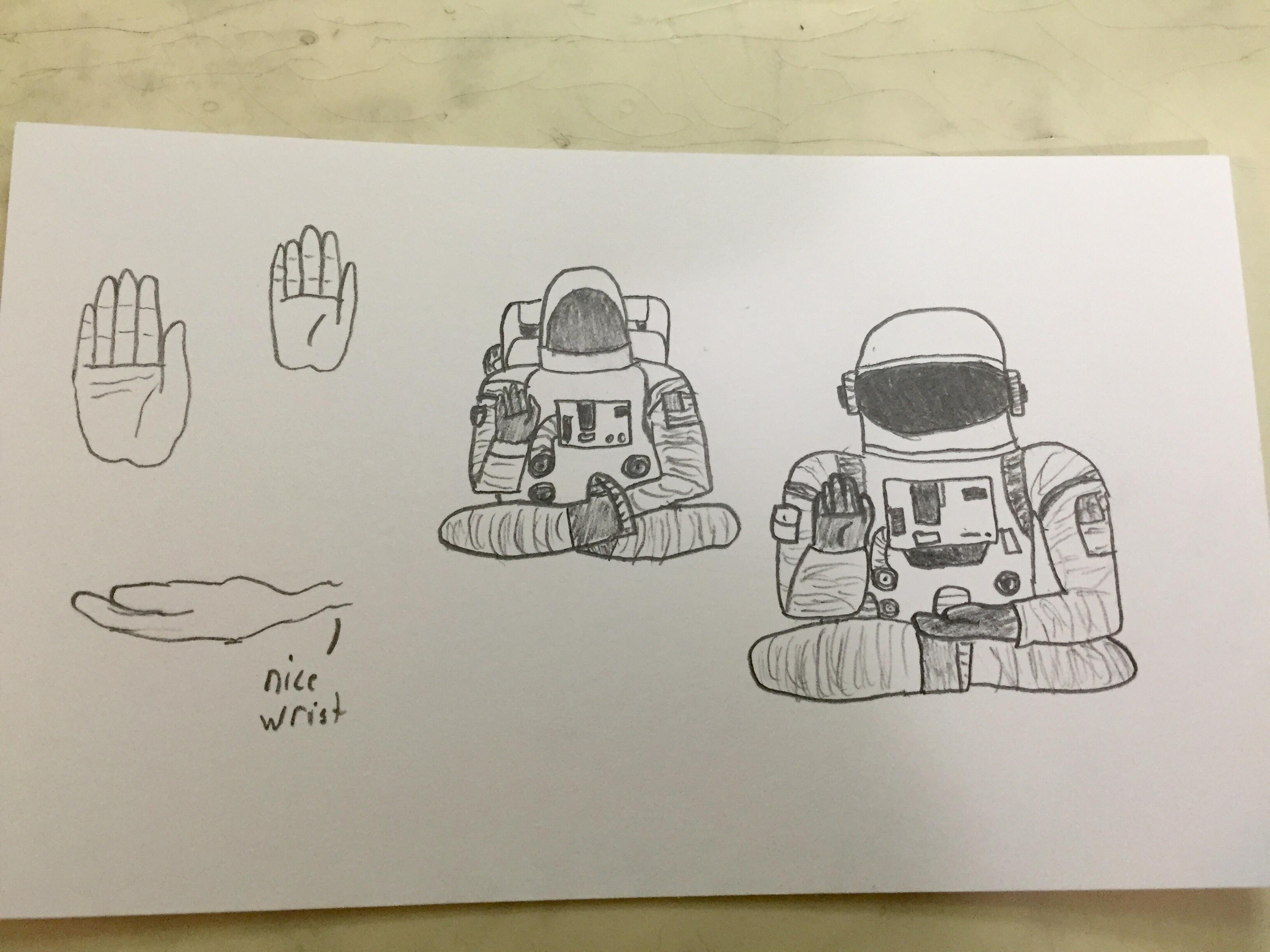 3264x2448 Trying To Draw An Astronaut In A Sitting Buddha Style Position