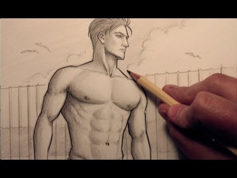 480x360 How To Draw Chest Muscles