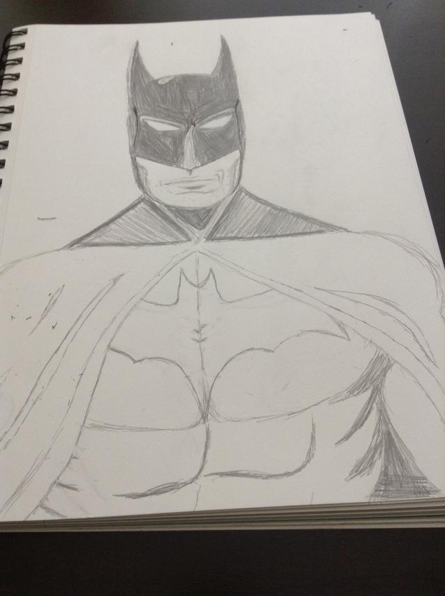 640x857 How To Draw Batman
