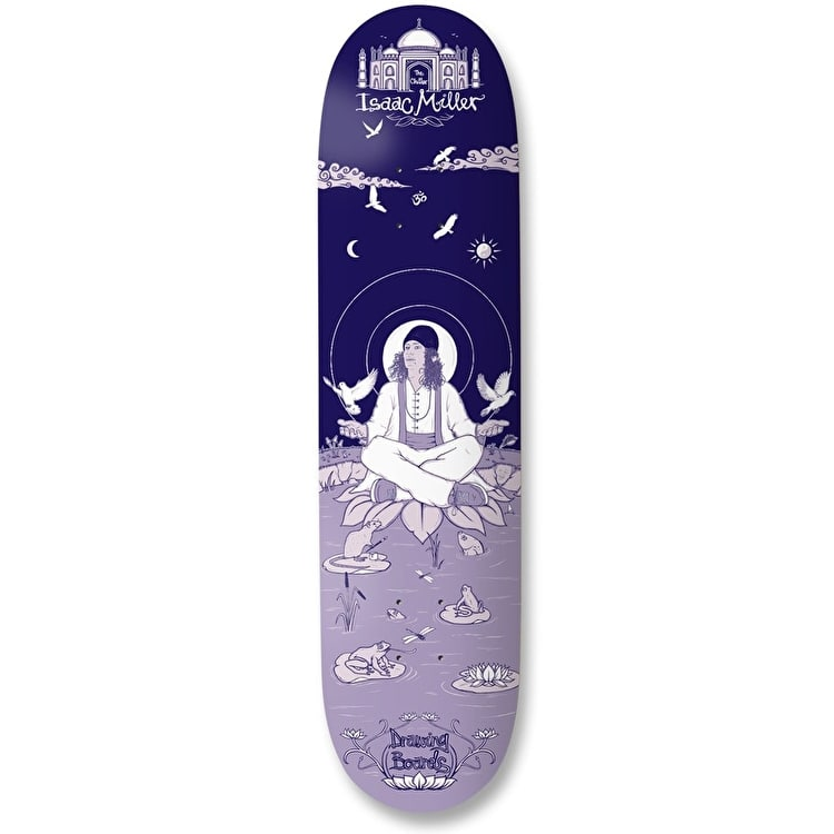 750x750 Drawing Boards Isaac The Chiller Miller Skateboard Deck