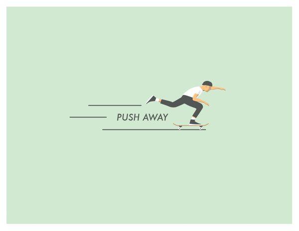 600x464 Push Away Skate Drawing