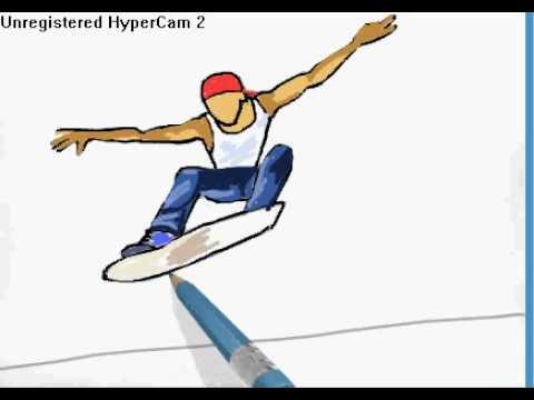 480x360 How To Draw A Skateboarder