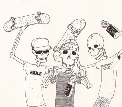 500x438 Skateboard Drawing Tumblr