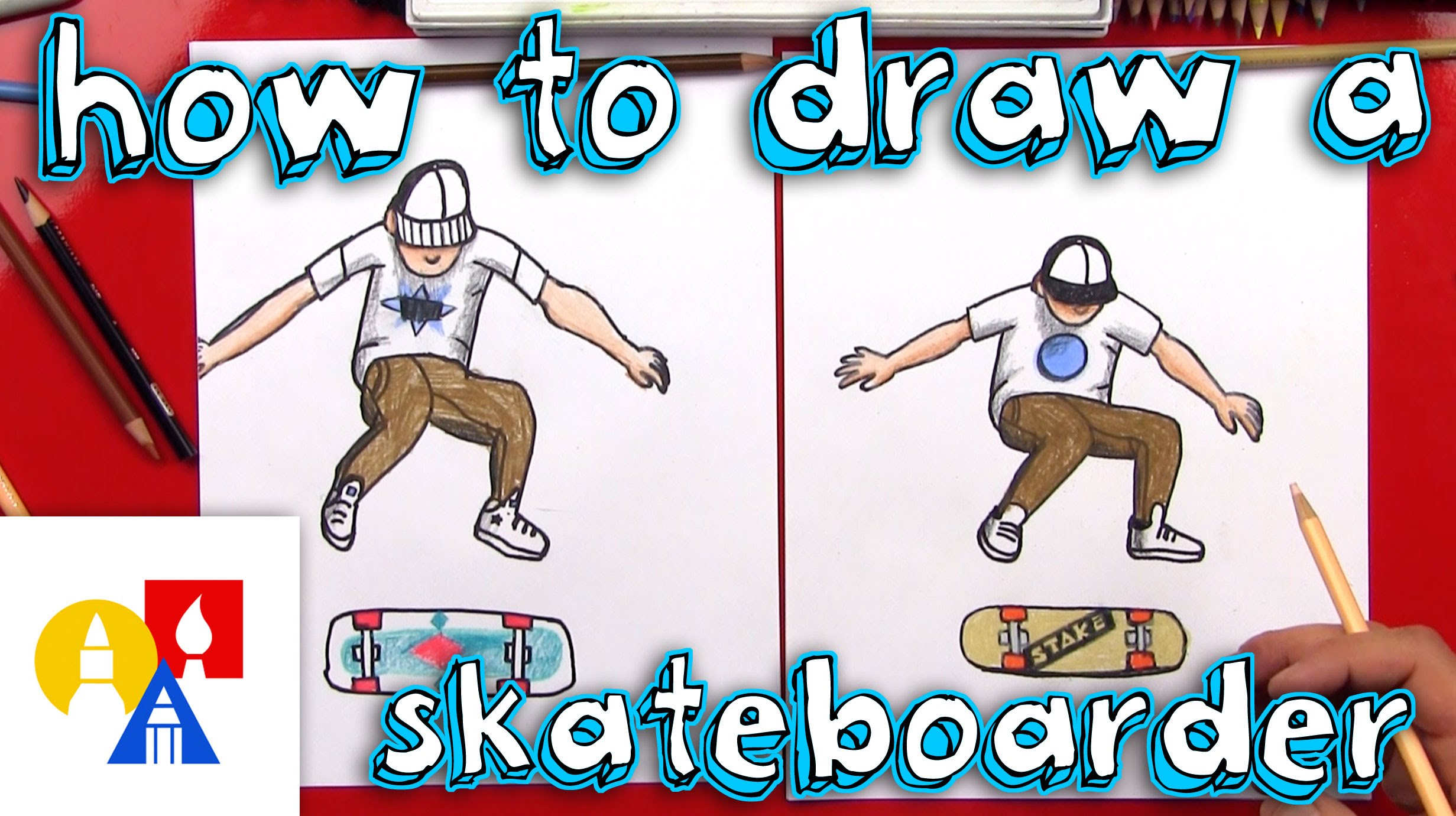 2463x1381 How To Draw A Skateboarder Doing Kickflip