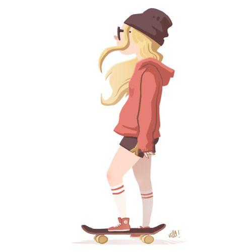 500x500 Tumblr Skater Girl Drawing