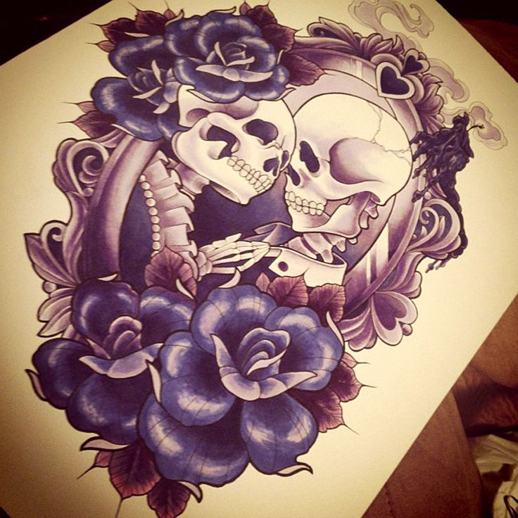 1103x1300 Art Wedding Skull Day Of The Dead Hand Drawing On Paper Stock 1 736x736 Cartoon Tattoos Group 56