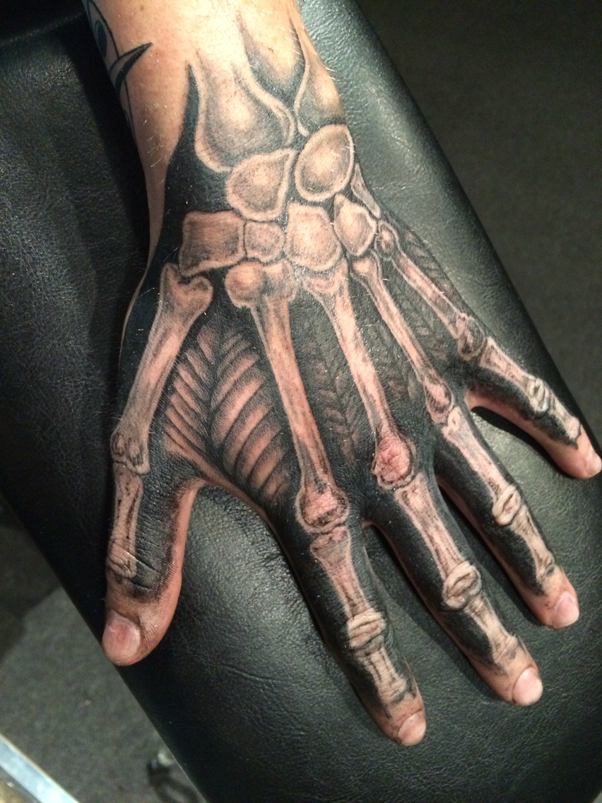 852x1136 Skeleton Hand Drawing On Hand Skeleton Hand Tattoo By Alex Frew