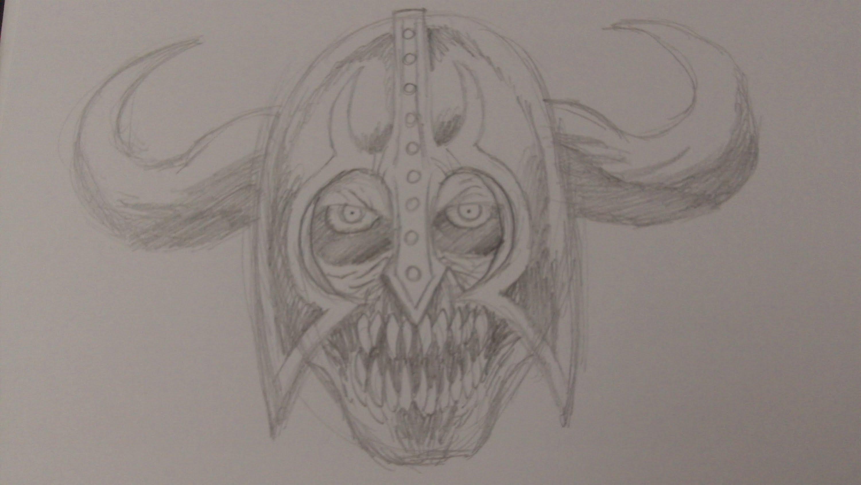 3000x1688 How To Draw A Demon Skeleton Warrior Head Slideshow