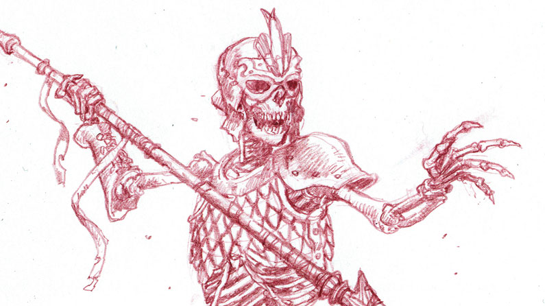 795x446 How To Draw Fearsome Skeleton Warriors Creative Bloq
