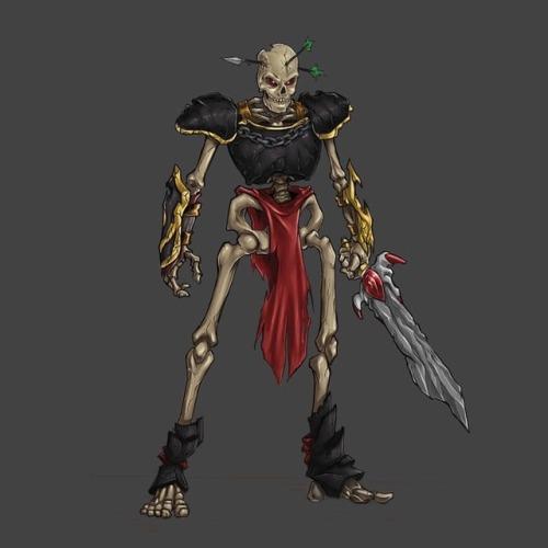 500x500 Jiro Tamase Skeleton Warrior Drawing. An Oldie.