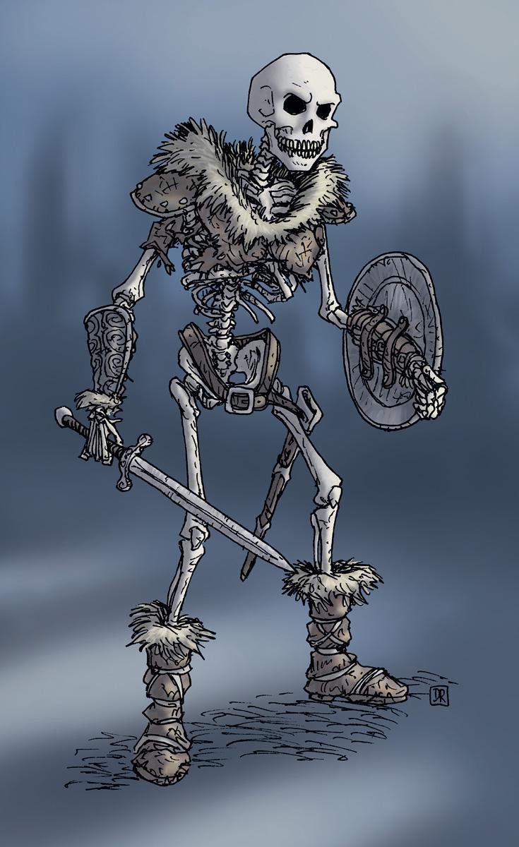735x1200 Skeleton Warrior Colour By Domigorgon Roleplay