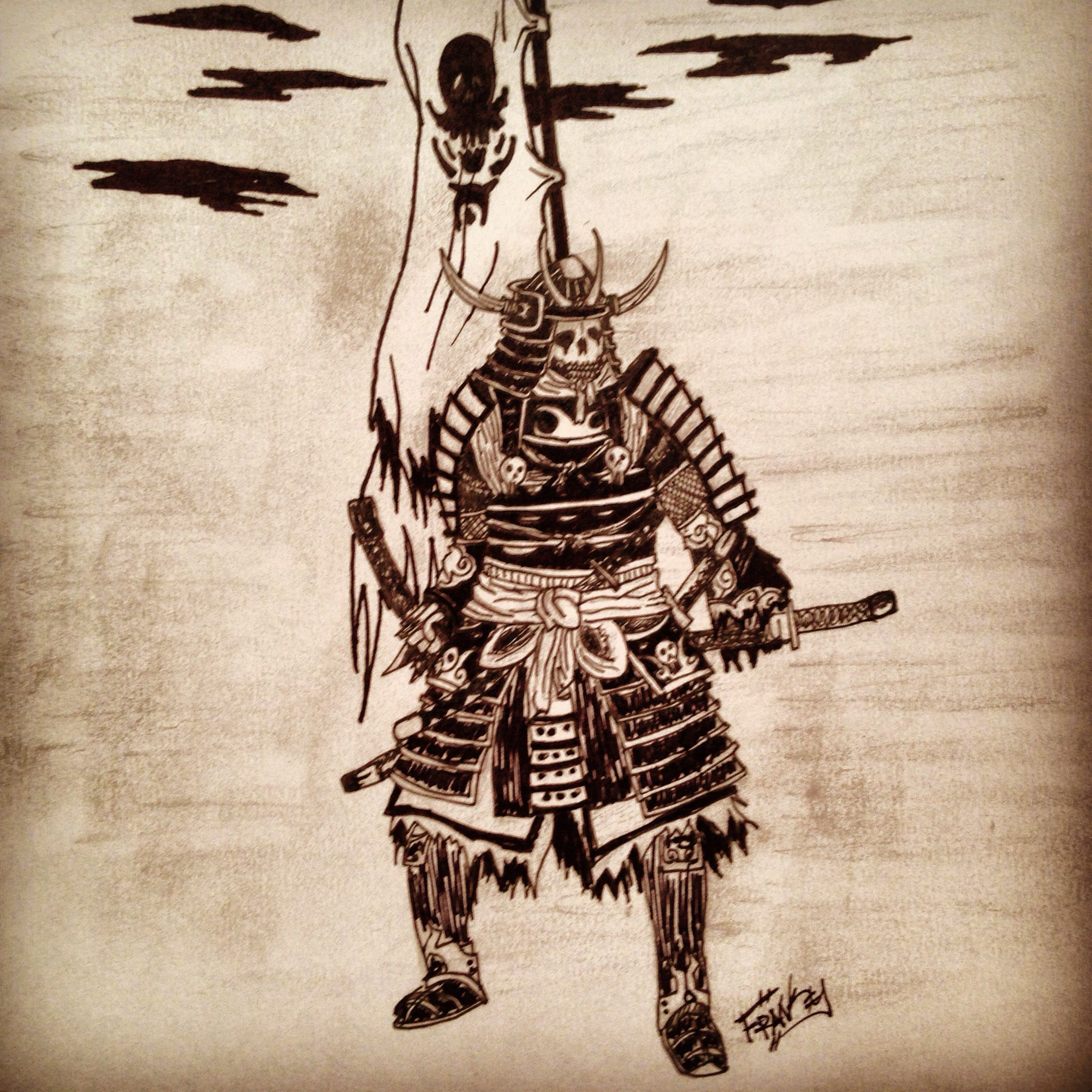 2448x2448 Skeleton Warrior Drawing By Me. Drawings By Frank