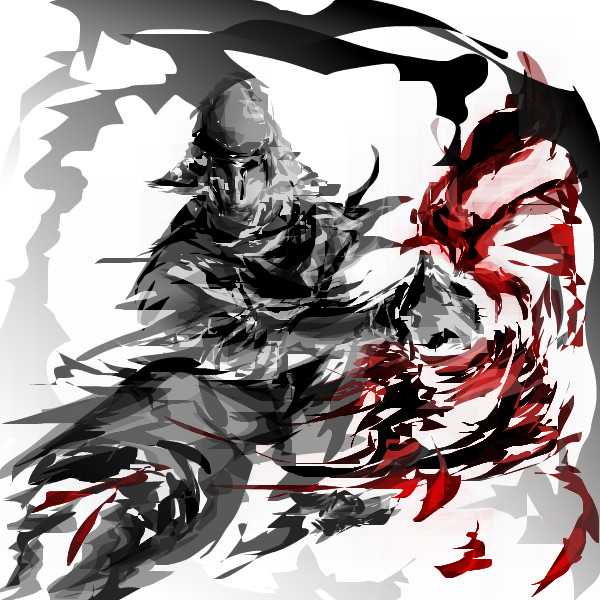 600x600 Skeleton Warrior An Abstract Speedpaint Drawing By Haedonggum