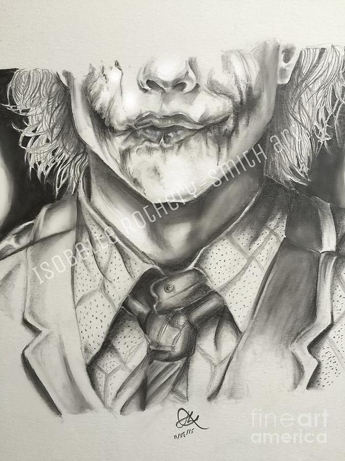 675x900 Heath Ledger Joker Pencil Sketch Drawing By Isobelle Rothery Smith