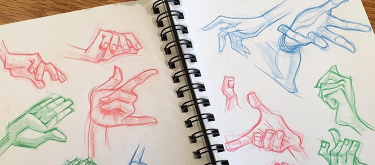 750x330 Drawings Of Hands Quick Sketches Amp Hand Studies