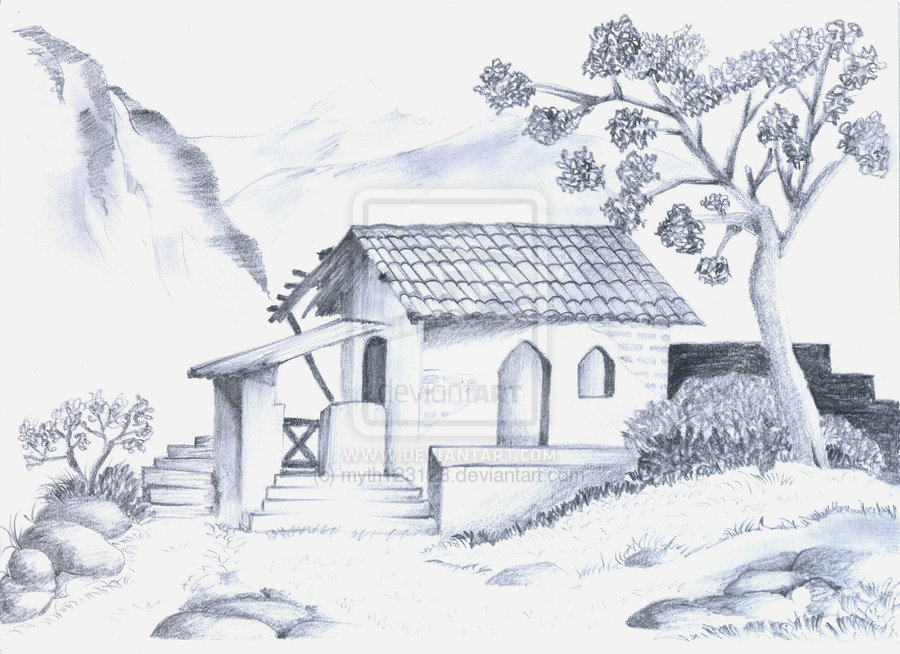Pencil Drawing Nature Picture