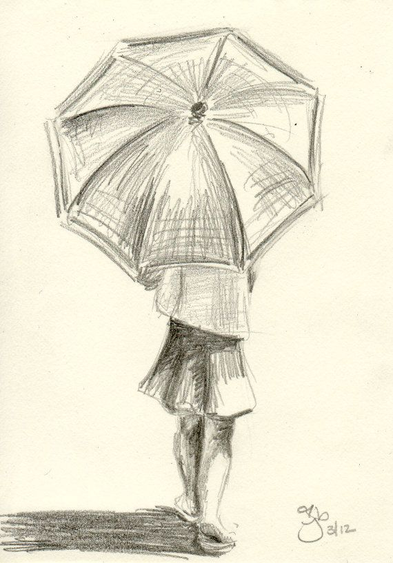 570x817 Girl With Umbrella