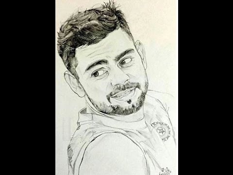 480x360 How To Draw Virat Kohli Face Sketch Pencil Drawing Step By Step