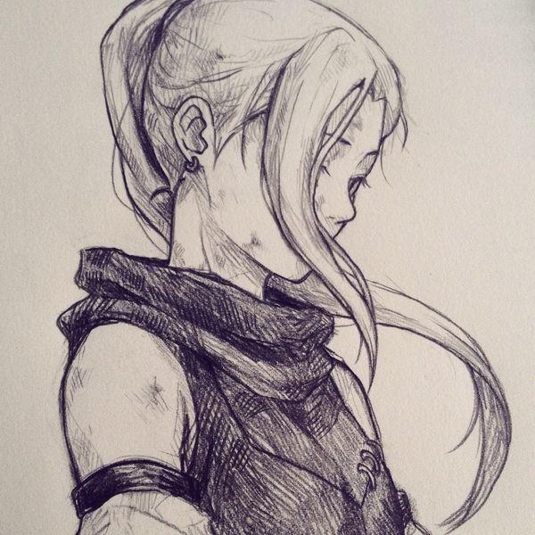600x600 Fantasy Art Female Adventurer Character Sketch