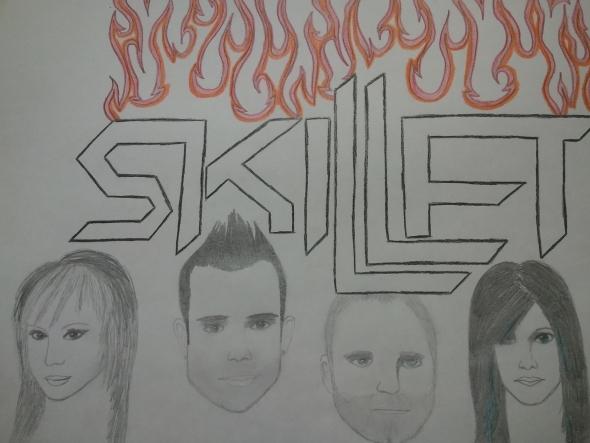 590x443 Skillet Drawing