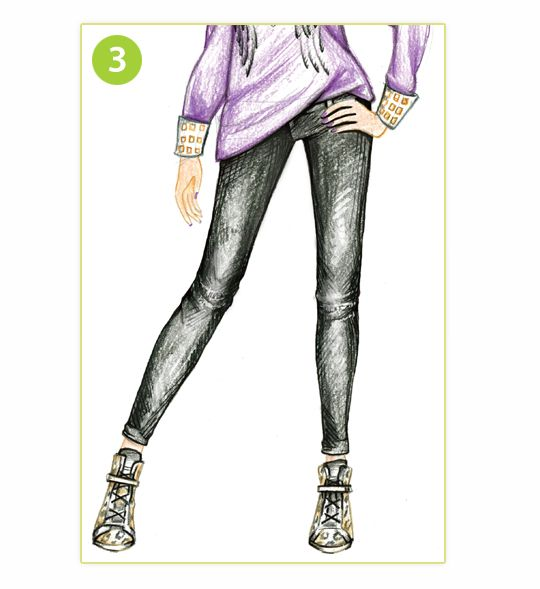 540x589 How To Draw Stylish Skinny Jeans Style Me Up Tekenen