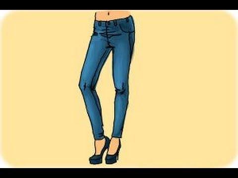 480x360 How To Draw Skinny Jeans