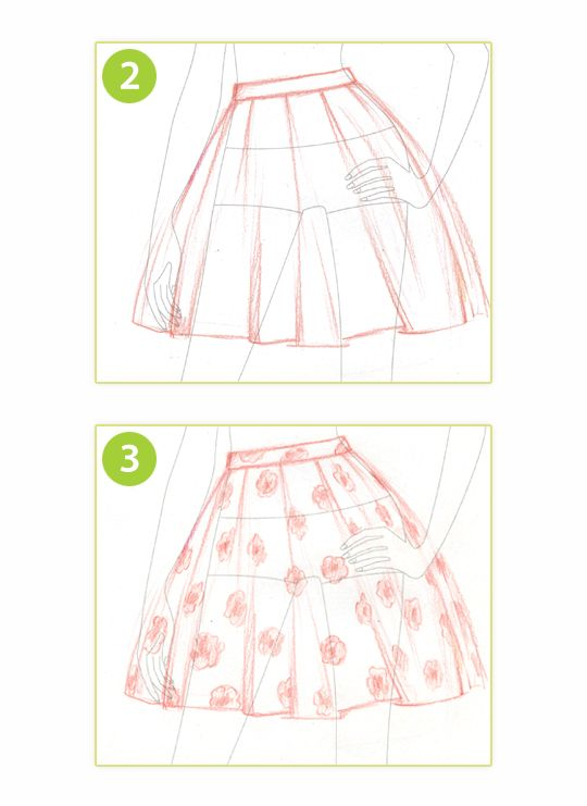 540x741 How To Draw A Skater Skirt Style Me Up Drawing Is Life
