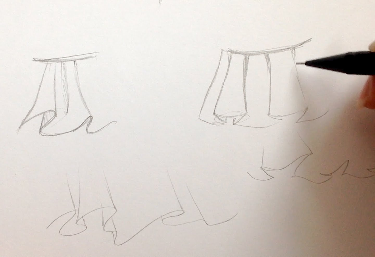 1440x987 How To Draw Manga Clothes Wrinkles And Skirts [The Lazy Way]