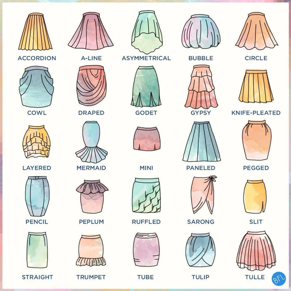 927x927 Specific Names Of The Different Skirt Types. Perfect!!!( (Beauty