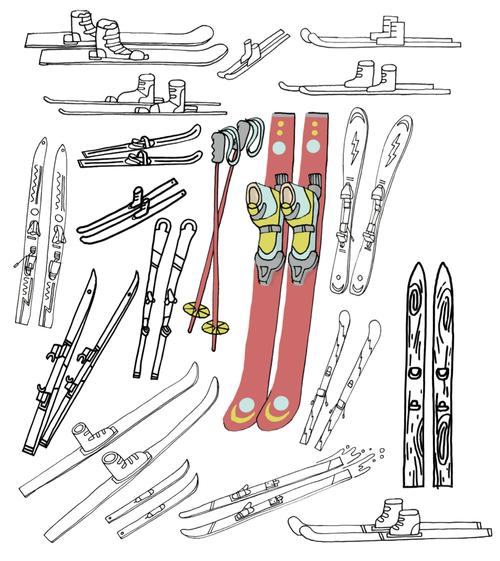 500x561 20 Ways To Draw Skis Quarto Knows Blog