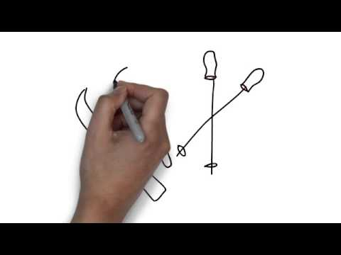 480x360 How To Draw Skis