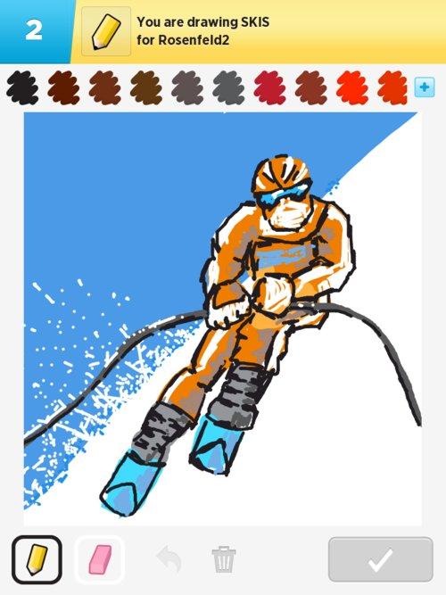 500x667 Skis Drawings